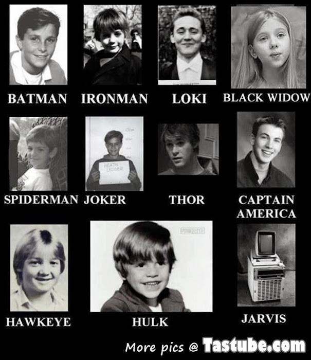 Childhood Pics of Superheros