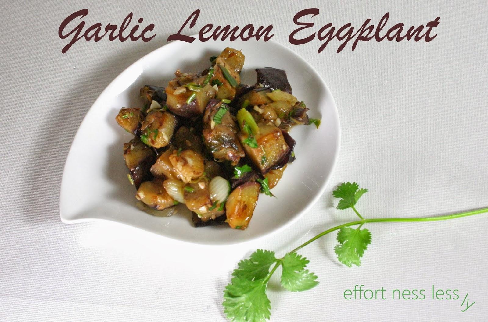 Effortnesslessly garlic lemon eggplant for Awesome cuisine categories vegetarian