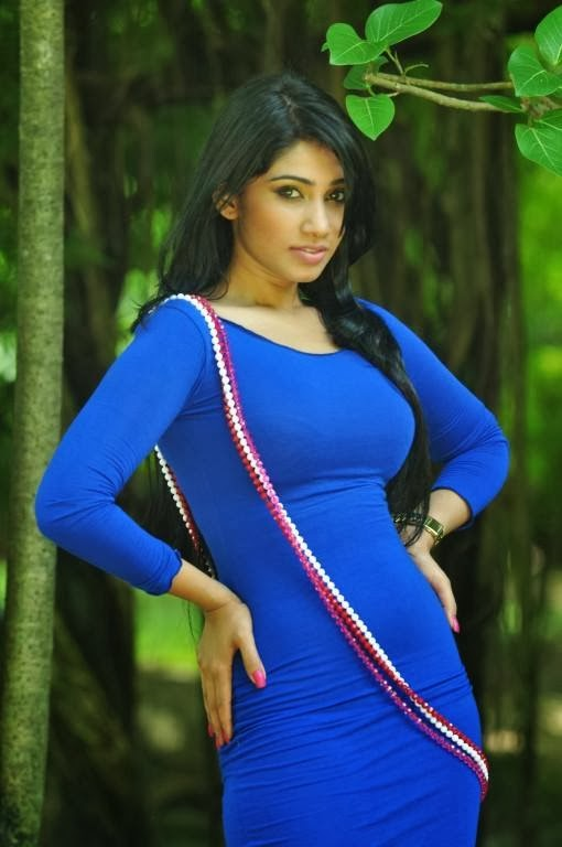 Aksha Sudari tight blue dress