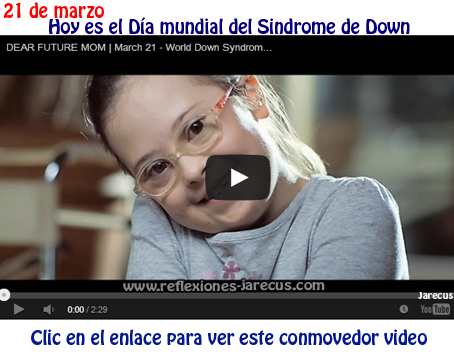 madre, hijo down, video