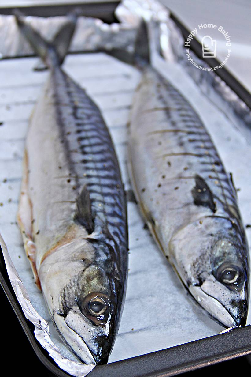 Happy home baking oven grilled mackerel for How to cook mackerel fish