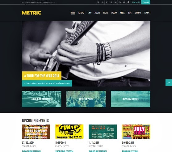 Metric - Music Band Responsive WordPress Theme