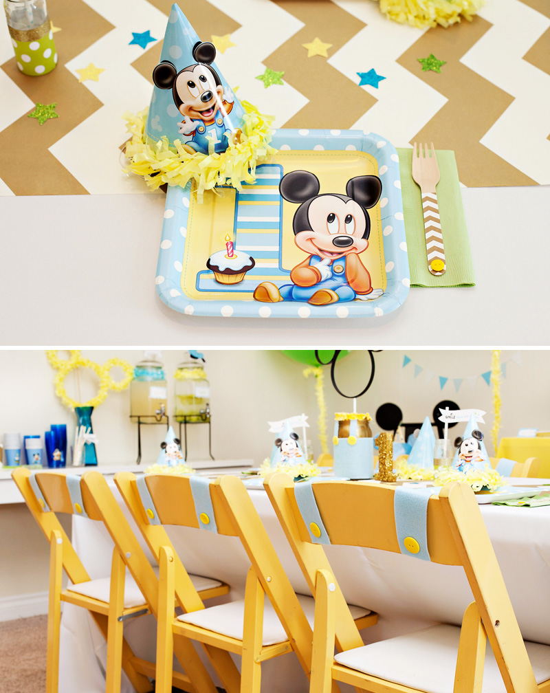print pink design festa de aniversario mickey 1 anivers rio. Black Bedroom Furniture Sets. Home Design Ideas
