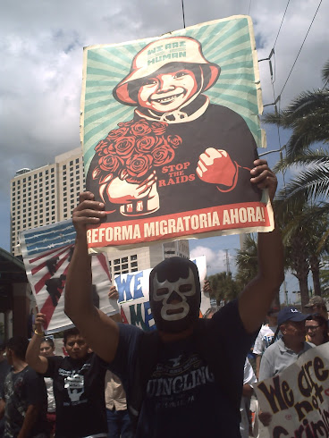 LUCHA LIBRE MAN SAYS IMMIGRATION REFORM NOW