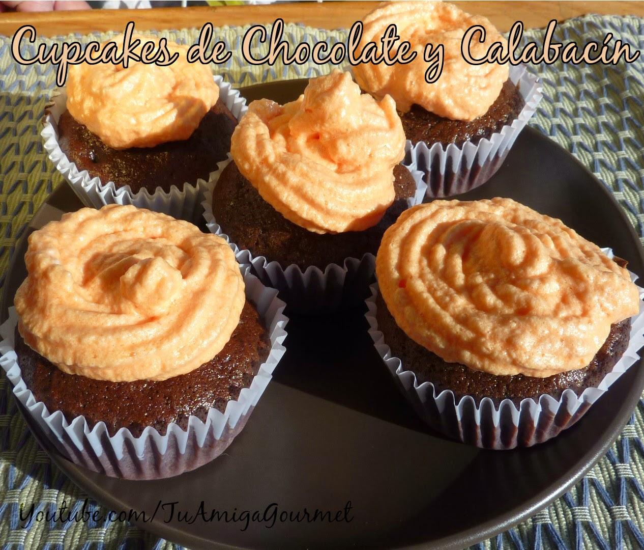 Quequitos (magdalenas, cupcake ) de calabacín y chocolate. Receta sin gluten ni lácteos