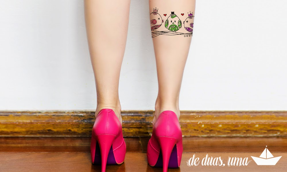 tatuagem feminina três passarinhos