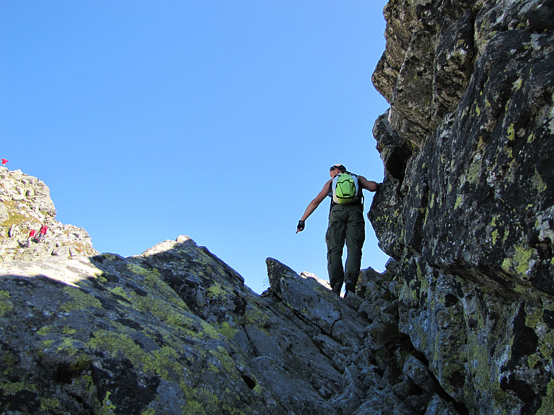 Wspinaczka na Skrajny Granat.