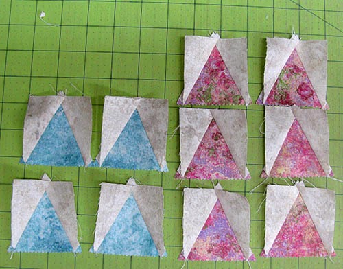 Triangles all pieced