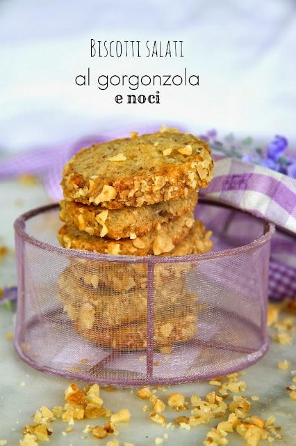 biscotti salati al gorgonzola e noci