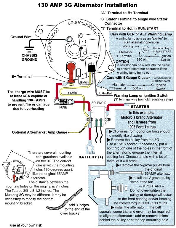 3Ginstall 3g alternator questions vintage mustang forums 3g alternator wiring diagram at soozxer.org