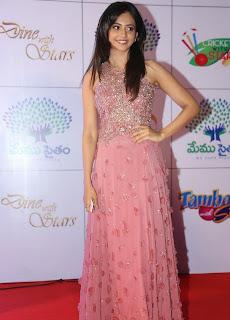 Actress Rakul Preet Singh Latest Pictures in Long Dress at Memu Saitam Dinner with Stars Red Carpet 36