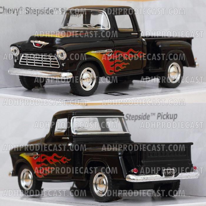 Miniatur Mobil Chevy Stepside Pickup 1955 Motif