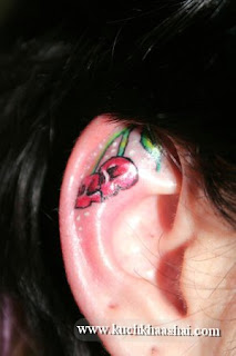 Behind The Ear Tattoo Design For Girls