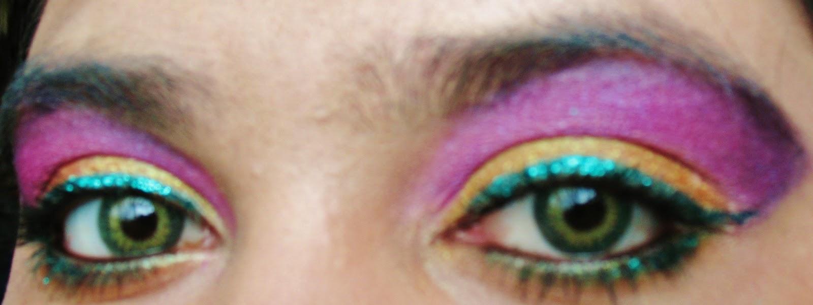 The Gilded Lily Mardi Gras Eye Shadow Look