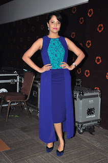 Anasuya looks Stunning in Purple top and Skirt at Courierboy kalyan audio release function