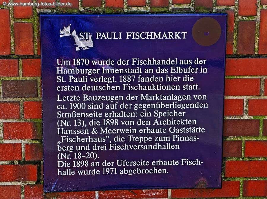 Fischmarkt Information Tafel