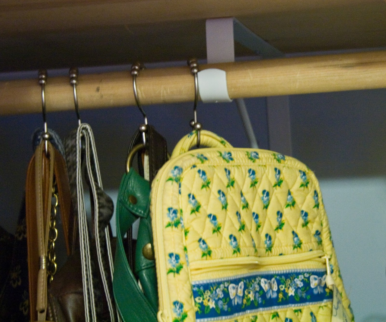 Five sixteenths blog wednesday decor three ways to use for Hooks to hang purses