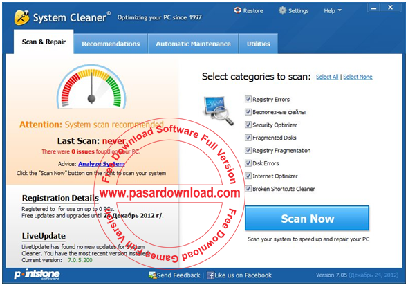 Download Pointstone System Cleaner 7.4.5.420 Full Version