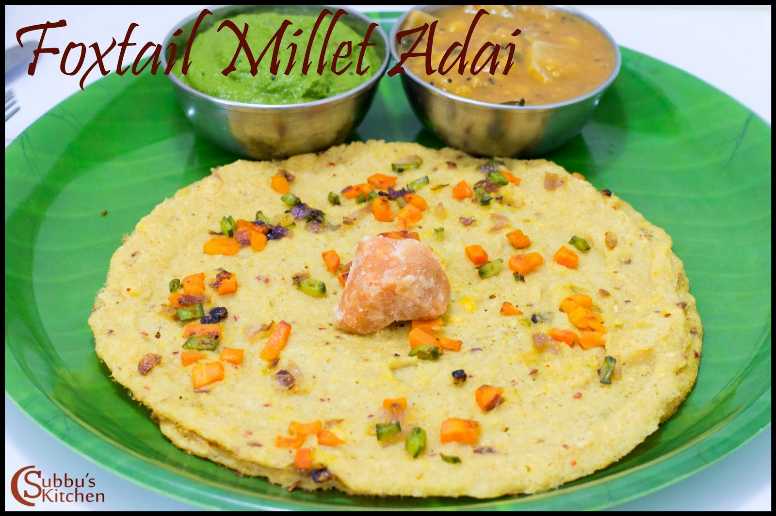 Thinai Vegetable Adai Recipe | Foxtail Millet Vegetable  Adai Recipe