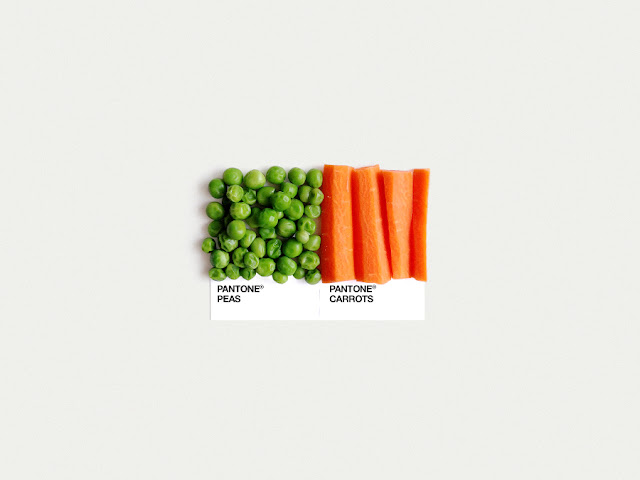 food art pairings david schwen, david schwen designer dschwen, graphic designer new york, pantone food, peas and carrots, food art