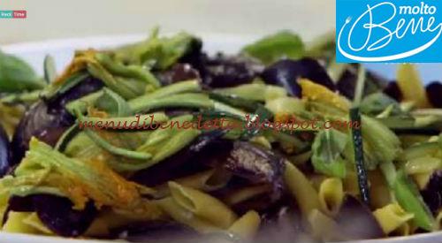 Garganelli cozze pecorino e fiori di zucca ricetta Parodi per Molto Bene
