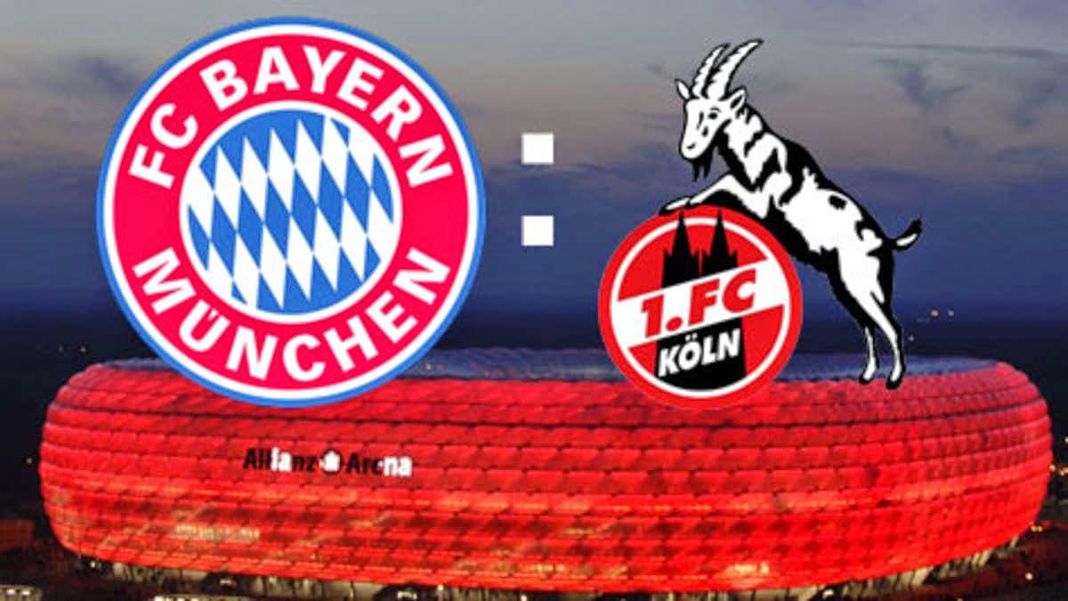 Bayern enfrenta Colônia dentro de casa