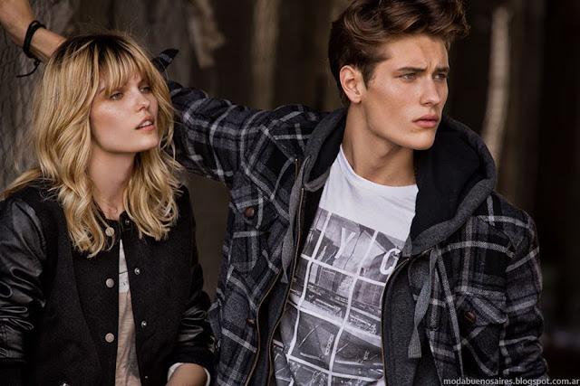 Camperas invierno 2015 Tannery moda hombre y mujer invierno 2015 Argentina.
