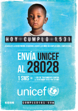 campaña Cumpledias UNICEF