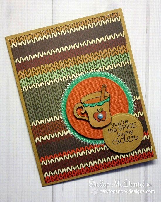 Apple Cider Card by Shellye McDaniel for Newton's Nook Designs | Apple Delights Stamp Set