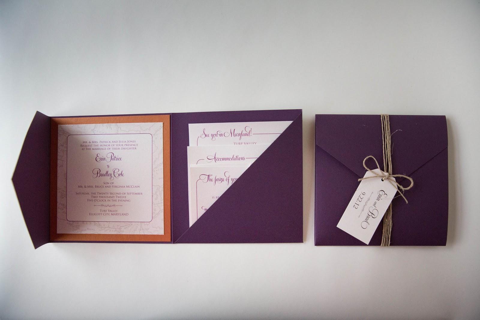 travel themed pocket wedding invitations baltimore wedding invitations baltimore - Travel Themed Wedding Invitations