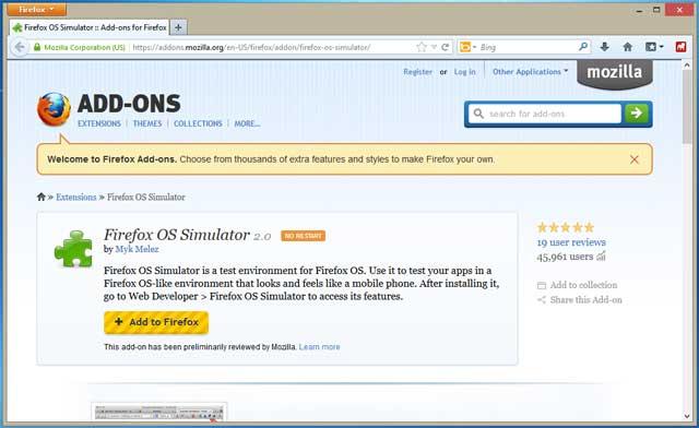 Firefox OS Stimulator