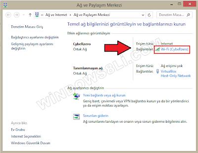 Windows 8.1 DNS Değiştirme