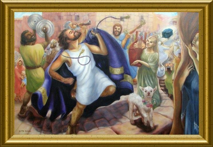 Re David danza davanti a Dio - stavo seguendo uno studio su questo tema, molto interessante dans immagini sacre Psalm+149c