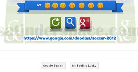 Thursday Doodle Blogging >> Aug 10 Google Doodle Soccer 2012 Cheat for 7 stars and infinite (∞) score