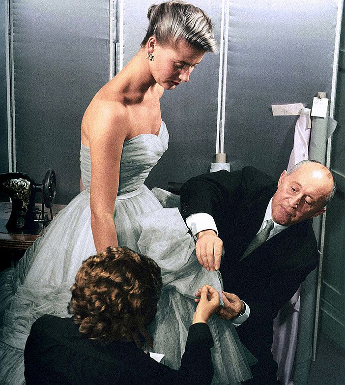 Christian Dior working with a model in 1953  / Monsieur Dior: Once Upon a Time / Book review / fashion books / via fashioned by love british fashion blog