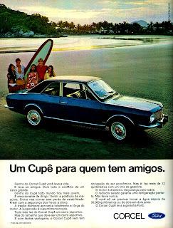 propaganda Ford Corcel Cupê - 1970; história anos 70; propaganda década de 70; Brazilian advertising cars in the 70s; reclame anos 70; Oswaldo Hernandez;