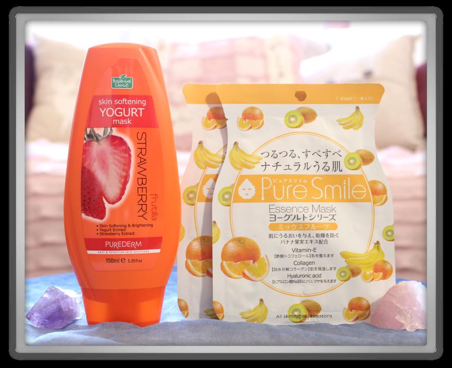 겟잇뷰티박스 by 미미박스 memebox beautybox Superbox #56 Yoghurt Cosmetics unboxing review box purederm skin strawberry mask pure smile mixed fruits