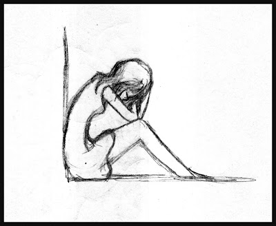 Sad Girl Crying Drawing Easy
