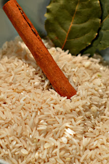 Rice and cinnamon