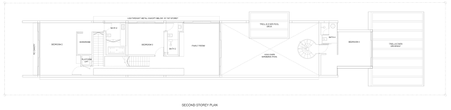 Second floor plan of Jln Angin Laut dream home by Hayla Architects