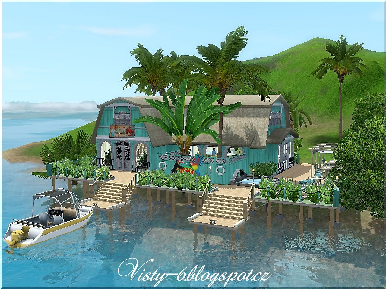 My sims 3 blog tropical island bar by visty6