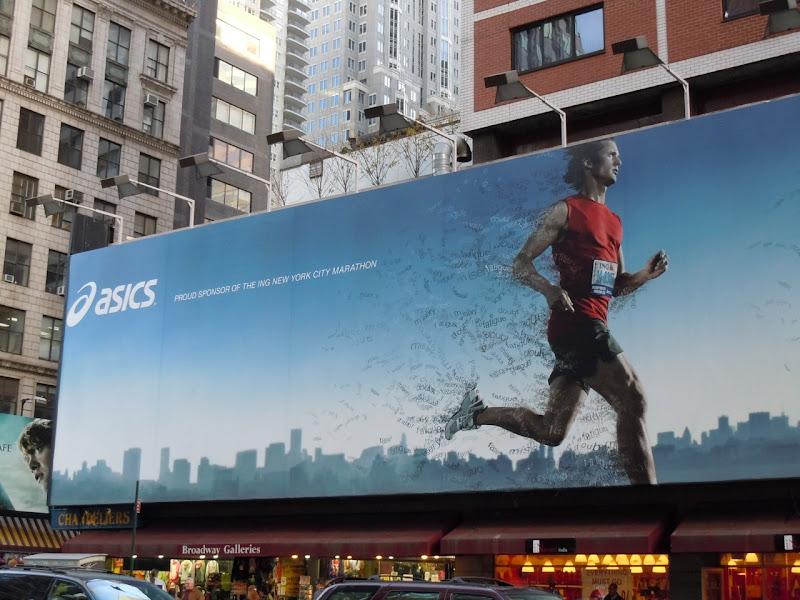 Asics NYC Marathon billboard