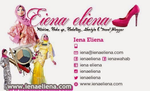 model iena eliena name card, blogger iena eliena name card