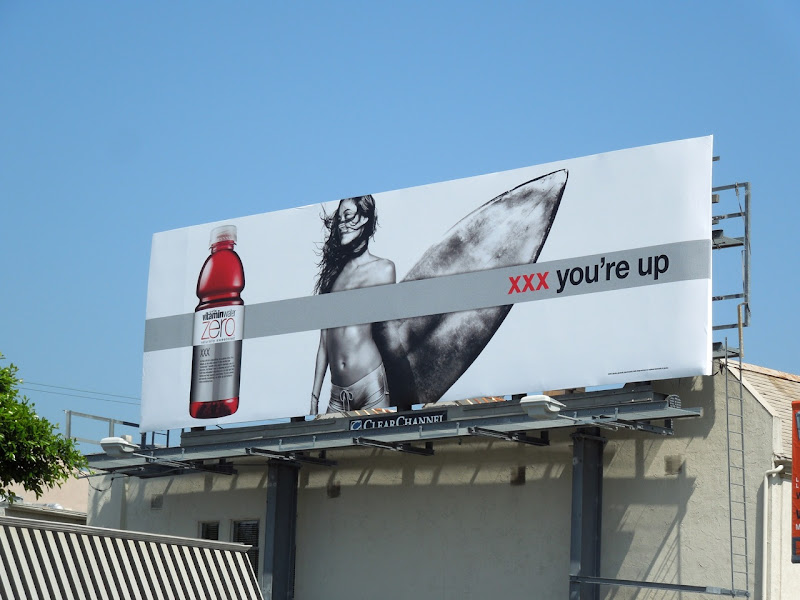 Vitamin Water XXX you're up surfer billboard