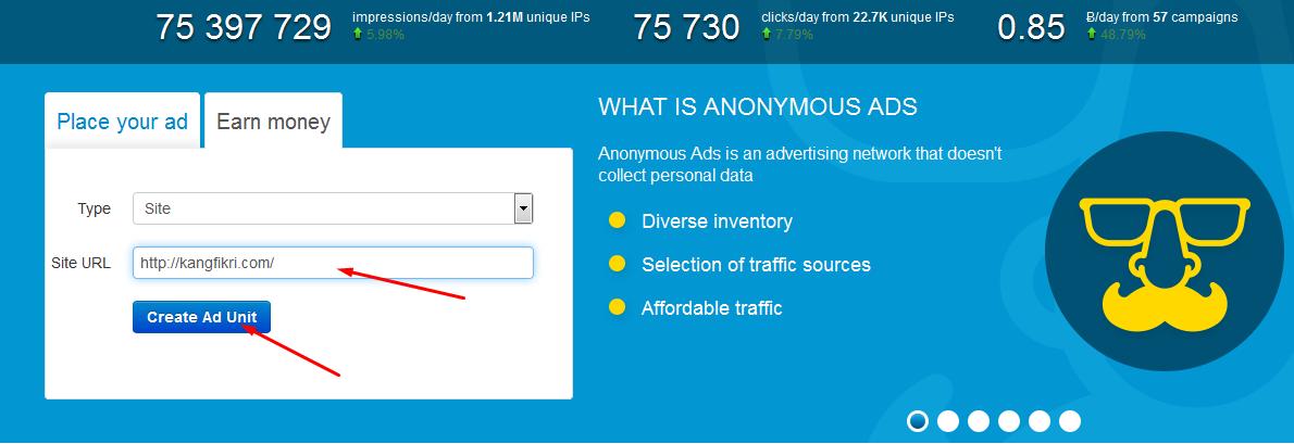 Dapatkan Bitcoin Gratis Dari Anonymous Ads
