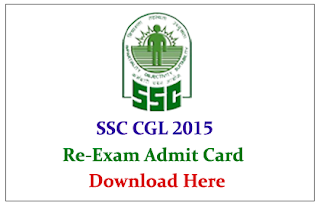 SSC CGL Re-Exam 2015 Admit Card Download