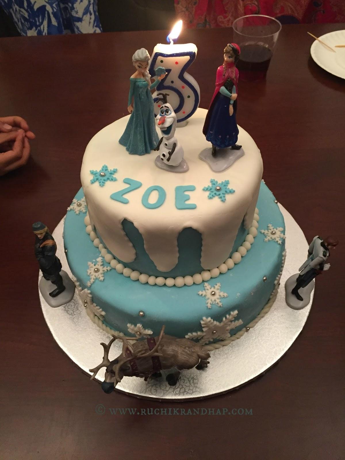 Frozen Themed Fondant Covered Cake Celebratory Cakes Ruchik Randhap