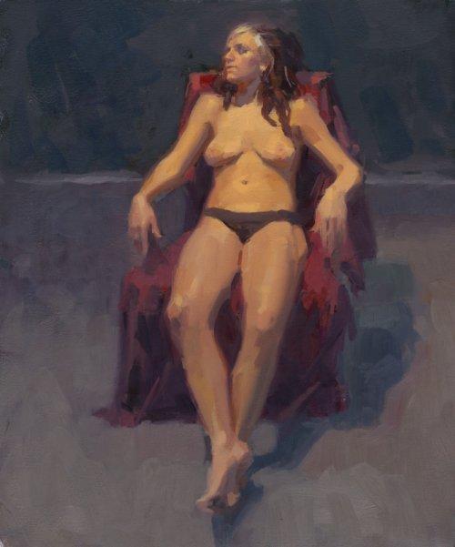aaron coberly pinturas impressionistas mulheres nuas