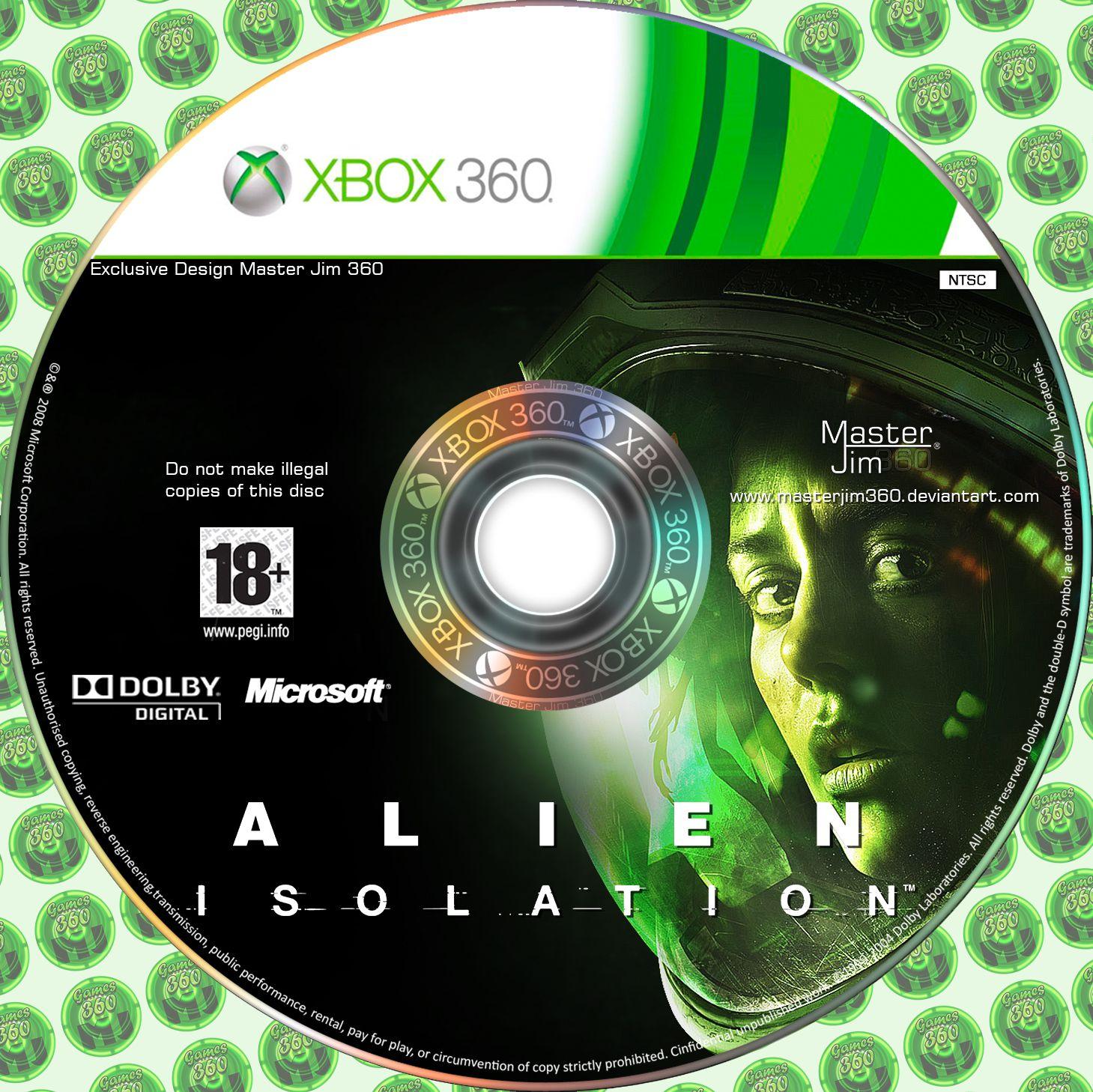 Label Alien Isolation Xbox 360