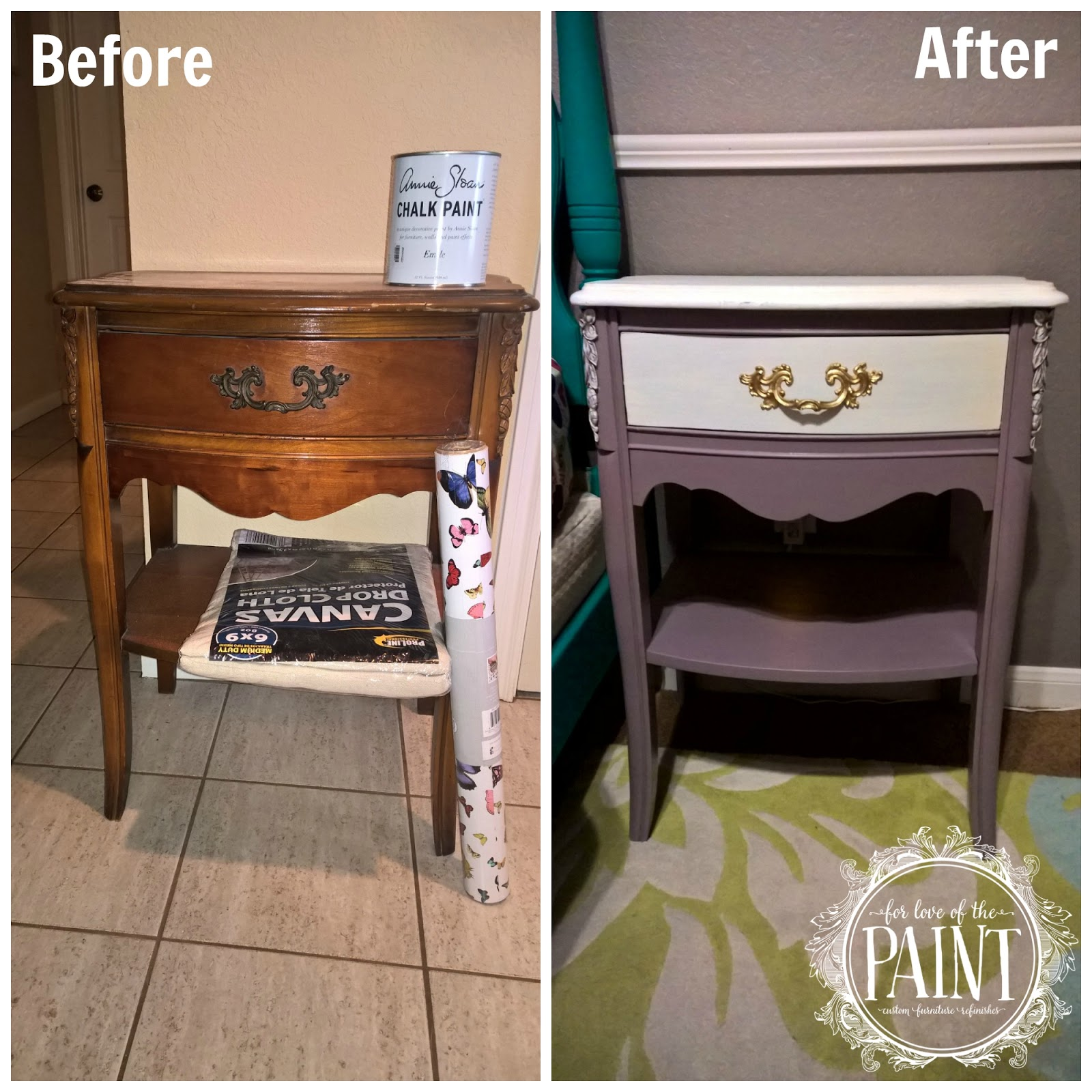 Before And After : Vintage French Provincial Nightstand In Emile And Pure  White   With Tutorial!